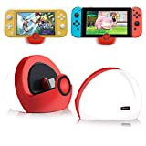 Antank Charging Dock Compatible with Nintendo Switch and Switch Lite, no Projection Charging Stand, Mini Portable Docking Station Easy for Travel Red & White (Color: Red)