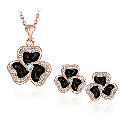 [Gnzoe Jewelry, Gold Plated Women Earrings Necklace White Crystal Inlaid CZ Jewelry Set] (Zelda Life Guard Dog Costumes)