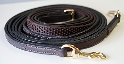 Soft Grip Reins - Nunn Finer Soft Grip Draw Reins with Snaps