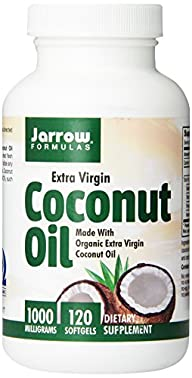 Jarrow Formulas Coconut Oil 100% Organic  Extra Virgin, Supports Cardiovascular Health, 1000 mg, 120…