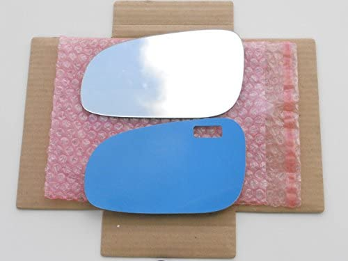 New Replacement Mirror Glass with FULL SIZE ADHESIVE for 2001-2003 Volvo S60 V70 /& 1999-2003 S80 Driver Side View Left LH