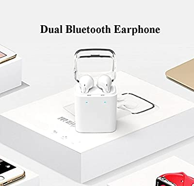 Dual Stereo Wireless Earphones with Portable Charger Built-in Microphone