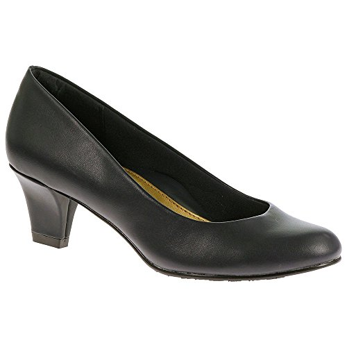 Soft Style Hush Puppies Women's Gail Dress Pump, Navy Leather, 9.5 W US by Soft Style (Image #7)