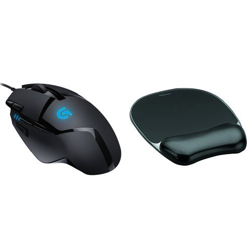 Logitech G402 Hyperion Fury Gaming Mouse and Fellowes