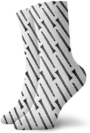 クラリネット楽器ドレスソックスおかしい靴下クレイジーソックス女の子のためのカジュアルな靴下男の子男の子30 cm