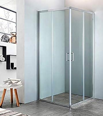 mampara de ducha con Ángulo de cristal Transparente, tamaño CM.68 ...