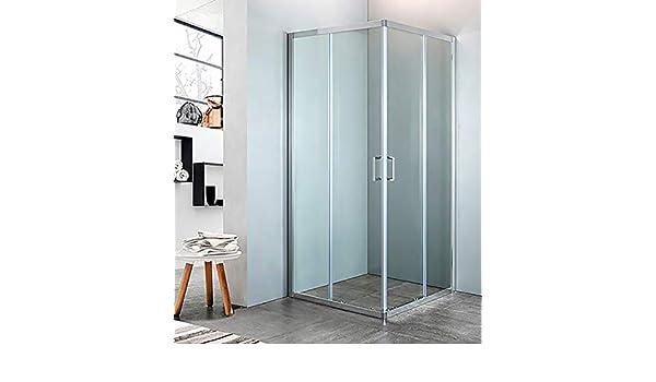 mampara de ducha con Ángulo de cristal Transparente, tamaño CM.68/70 X 88/90, Cromado: Amazon.es: Bricolaje y herramientas