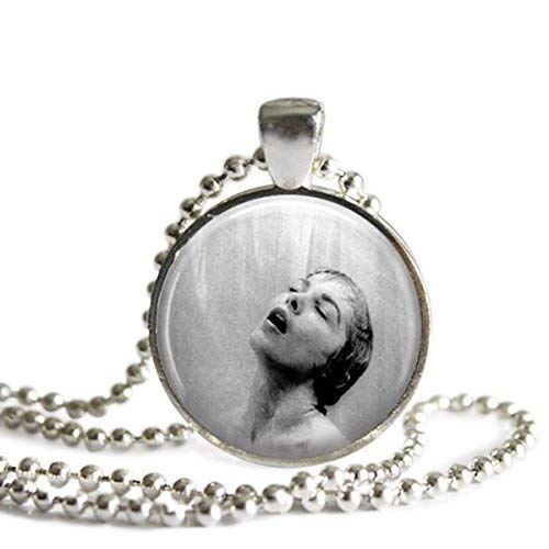 Alfred Hitchcock's Psycho Shower Scene 1 Inch Silver Plated Pendant Necklace -
