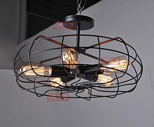(Gotian Metal Ceiling Light Pendant Lighting Industrial Vintage Style US Stock, for Bedroom Bathroom Bar Party)