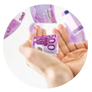 alfombrilla de ratón dinero - ronda - 20cm