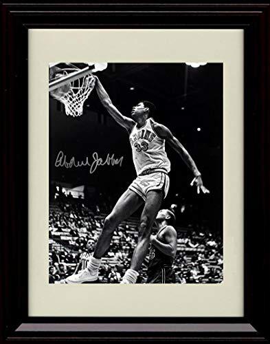 Framed Bruins Ucla - Framed Kareem Abdul Jabbar Autograph Replica Print - Legendary Dunk in B&W - UCLA Bruins