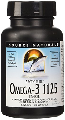 (Source Naturals ArcticPure Omega-3 Fish Oil 1125mg Ultra Potency Maximum Strength EPA + DHA For Heart, Joint, Brain & Immune Health - 30 Softgels )