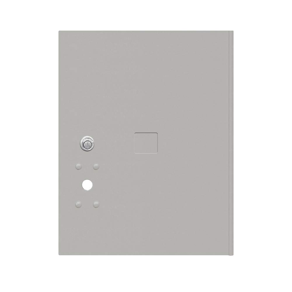 Salsbury Industries 3455P-GRY Gray Replacement Door and Tenant Lock for Standard 5 H 4C Pedestal Parcel Locker with Keys