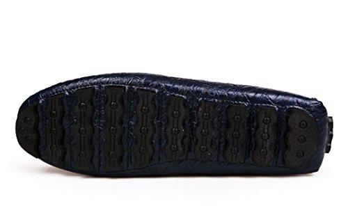 Tda Mens Confortables Slip Sur Cuir De Crocodile Manuel Conduite Business Penny Mocassins Chaussures Bleu