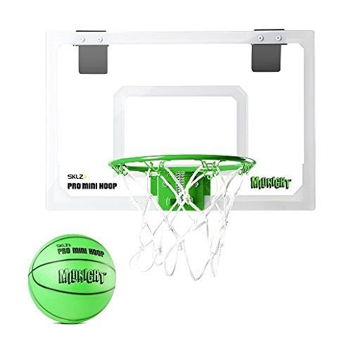 SKLZ Pro Mini Basketball Hoop - Fun Glow In The Dark Ball Net Backboard Set