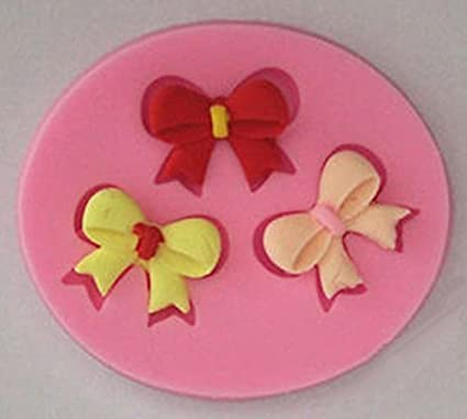 Bow 3 Cavity Mini Silicone Mold for Fondant, Gum Paste, Chocolate, Crafts