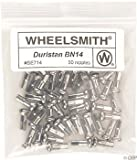 Wheelsmith Brass Nipples (Pack of 50), Silver, 20x12mm