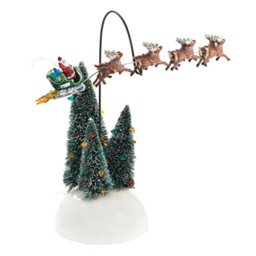 Department 56 National Lampoons Christmas Vacation Village Animated Flaming Sleigh Accessory - 56 Dept Santa