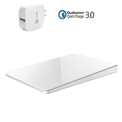 Amazon.com: AIBUYTA Cargador inalámbrico, 10 W Qi Certified ...