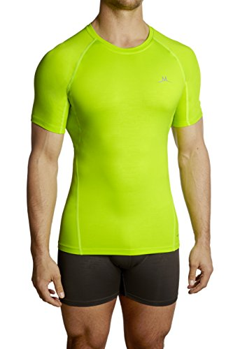Mission Men's VaporActive Compression Shirt, Hi Vis