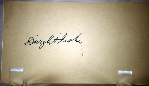 Dwight Fiske Vintage Autograph - 3x5 Post Card - Signed 01/03/1955 - Early Comedian - Plaza Hotel / Chickering Hall / London