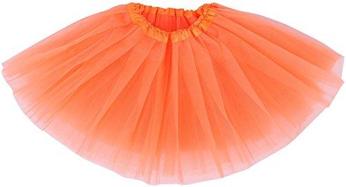 [Simplicity Kid Cute Layer Tulle Tutu Skirt Princess Ballet Dance Skirt, Orange] (Bunny Leotard Costume)