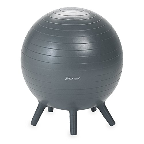Gaiam Kids Stay-N-Play Balance Ball, Grey