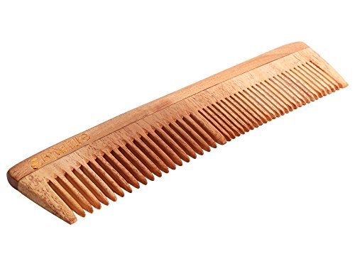 By Nature Neem Wood Multi Purpose Comb Light Brown