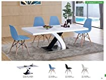 75 Modern Table and 971 Chairs by ESF