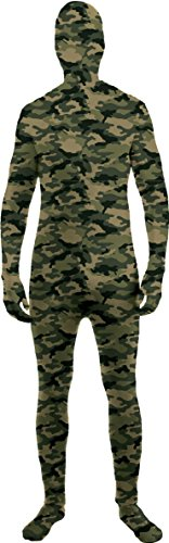 Forum Novelties I'm Invisible Costume Stretch Body Suit, Camo, Child Large - Skin Suit Camo Child Costumes