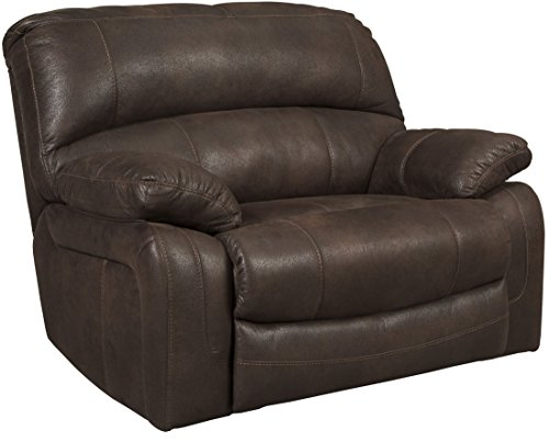 Ashley Zavier Wide Seat Faux Leather Recliner in Truffle Review