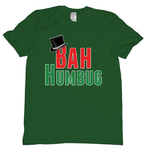 Bah Humbug Top Hat Tee Shirt Mens XXL green U