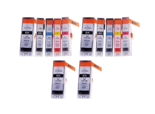 12 Pack - Toners & More Compatible Inkjet Cartridge Set f...