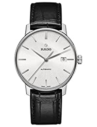 Rado Coupole Classic R22860015 38mm Automatic Stainless Steel Case Black Calfskin Anti-Reflective Sapphire Men's Watch