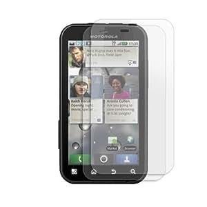 Fincibo (TM) Motorola Defy MB525 2 packs Custom-Fit Anti-Glare Screen Guard Protector Shield Film Kit