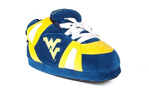 - WVA01-3 - West Virginia Mountaineers - Large - Happy Feet Men's and Womens NCAA Slippers