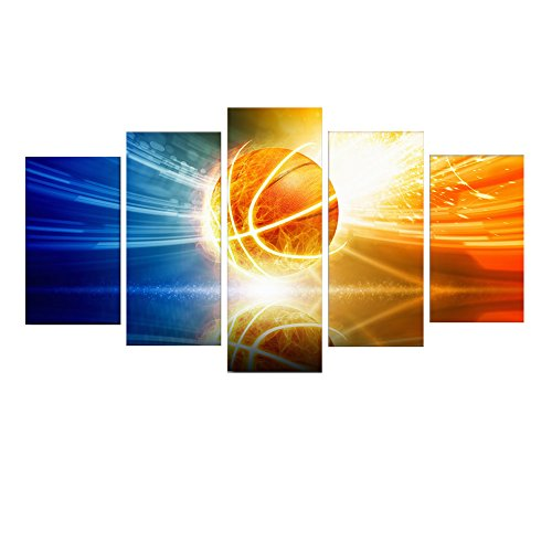 HD Printed 5 Piece Canvas Art Shooting Halo Basketball Painting Wall Pictures for Living Room Modern CU-2455B