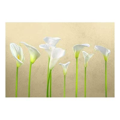 Crafted to Perfection, Grand Piece, Arum Lilies with Copper Textured Background Wall Mural