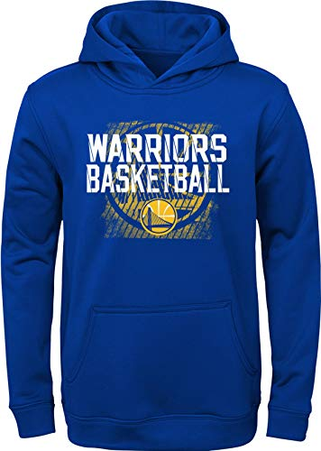 Outerstuff NBA Youth Team Color Performance Attitude Pullover Sweatshirt Hoodie (Large 14/16, Golden State Warriors)