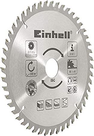 Einhell - Hoja de sierra circular (metal duro, 210 x 30 x 2,8 mm, 48 dientes)