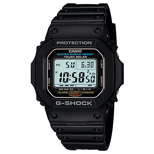 Casio Men's G5600E-1 G-Shock Grey Digital Dial Shock Resistant Watch
