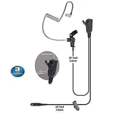 1-wire Mic Earpiece For Motorola MTX850 MTX950 PRO5150 PRO7550 Handheld