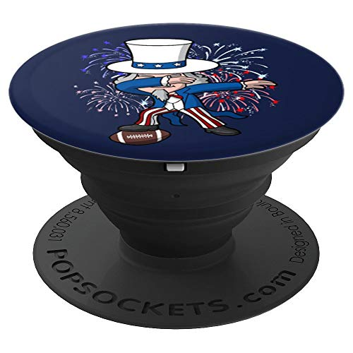 (Dabbing Uncle Sam Football 4th of July Independence Day USA - PopSockets Grip and Stand for Phones and Tablets)