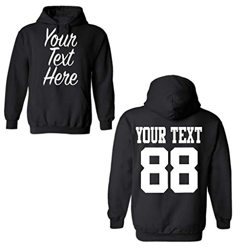 Custom Unisex 2 Sided Hoodies, Create Your own Hoodie, Personalized Sweatshirt Black