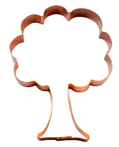 (Large Oak Tree Simple 5 Inch Copper Cookie Cutter)