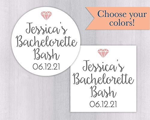 Bachelorette Bash Stickers, Bachelorette Party Labels, Personalized Color