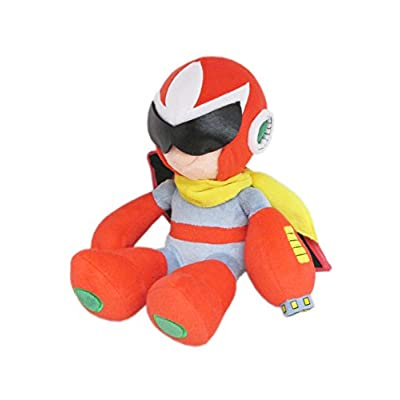 "Little Buddy Mega Man All Star Collection 10"" Proto Man Stuffed Plush: Toys & Games"