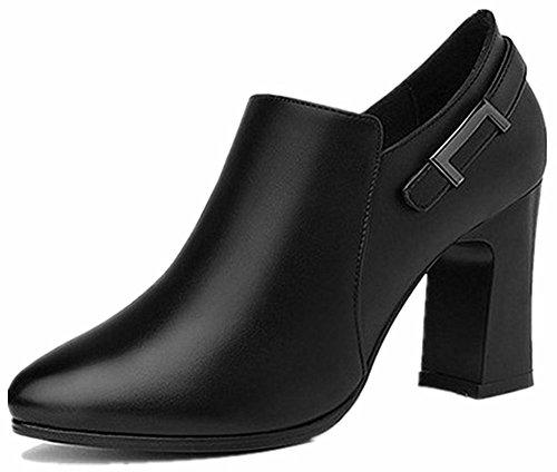 taille latérale cheville hauts noir à basse femmes bouts la à pour Easemax pointus pointu Chaussures à et glissière bout 7xwZnCaBq