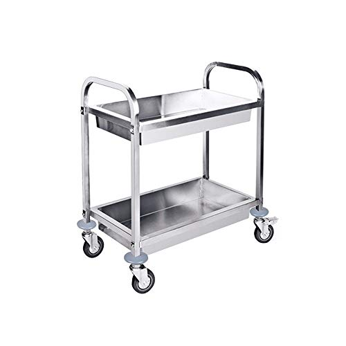 ZCF YEUX Hand Trucks Stainless Steel Collection Car Service Trolley Linen Trolley Cart Tool Cart
