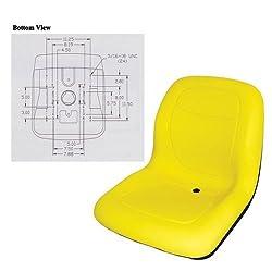 Bucket Seat Vinyl Yellow John Deere 70 4400 240 47